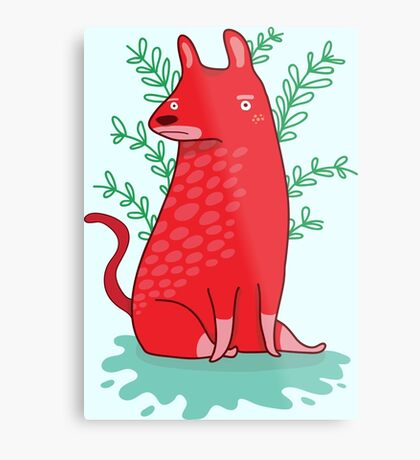 Big red Dog Metal Print