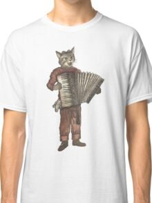 Accordion Cat with Goggles and Mask Classic T-Shirt