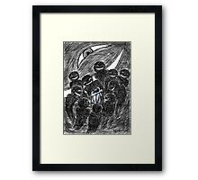 Fear in Ink and Watercolor Framed Print