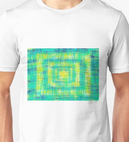 green blue and yellow painting abstract texture Unisex T-Shirt