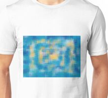 blue orange and dark blue painting abstract Unisex T-Shirt