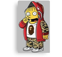 Bape The Simpsons Canvas Print