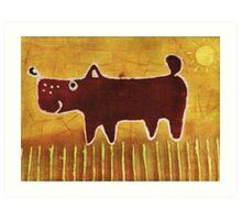 Brown dog Art Print