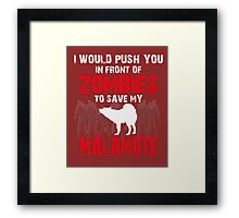 Front Of Zombies Malamute Framed Print