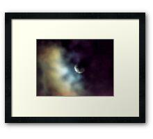 Shy Moon Framed Print