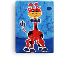 Red giraffe Canvas Print