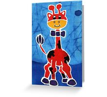Red giraffe Greeting Card