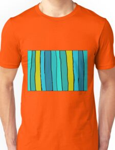green yellow and blue drawing and painting background Unisex T-Shirt