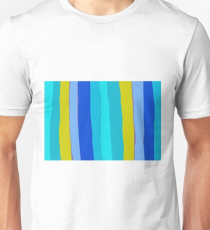 yellow blue and green painting abstract background Unisex T-Shirt