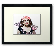 Tina Fey - Cutie Pie Framed Print