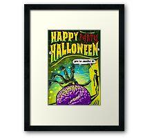 Halloween Brain Party  Framed Print