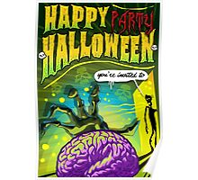 Halloween Brain Party  Poster