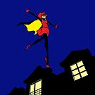 Bandette On The Roof (no logo) by colleencoover