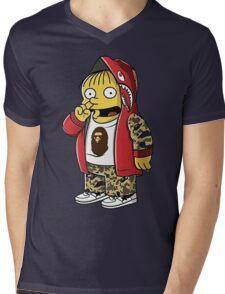 Bape The Simpsons Mens V-Neck T-Shirt