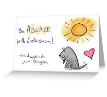 Jack - Be Ablaze with Enthusiasm Greeting Card