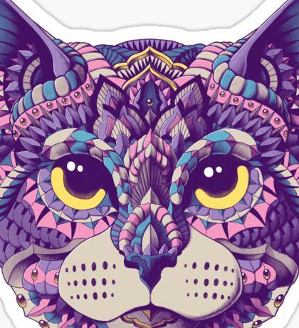 Cat Head (Color Version) Sticker