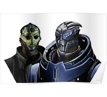 Mass Effect - Thane and Garrus Poster
