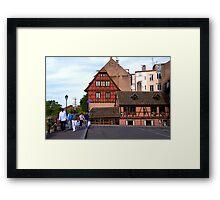 Strasbourg, Ponts Couverts Street, France Framed Print
