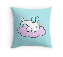Baby Harp Seal Angel Throw Pillow