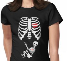 Halloween X Ray Maternity Pregnant Costume Womens Fitted T-Shirt