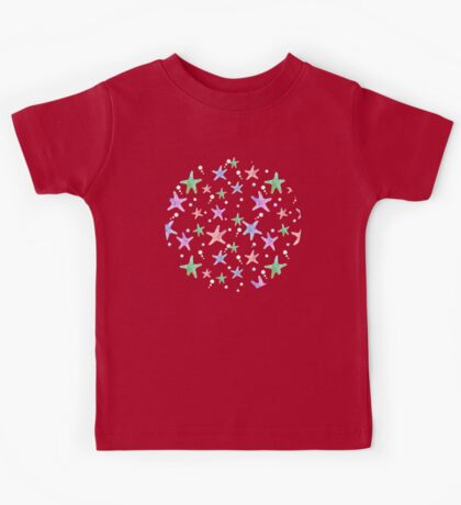 Pastel starfish pattern Kids Tee
