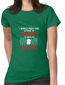 Front Of Zombies Maltipoo Womens Fitted T-Shirt