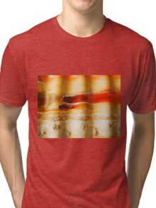 Aussie Corrugated Galvanised Iron Abstract #1 Tri-blend T-Shirt
