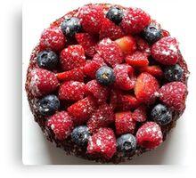 Summer Fruit Cake Canvas Print