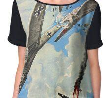 Aerial ramming. Air battle of World War II Chiffon Top