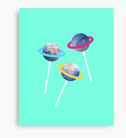 lollipop lost in space Canvas Print