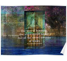 Book literary reading quote Poster