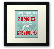 Front Of Zombies Greyhound Framed Print