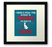 Front Of Zombies Basenji Framed Print