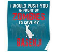 Front Of Zombies Basenji Poster