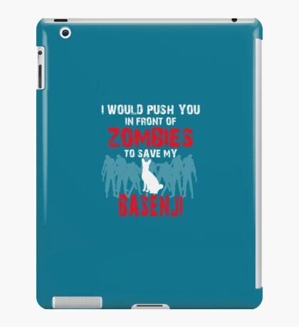 Front Of Zombies Basenji iPad Case/Skin