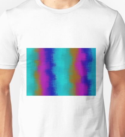 green blue pink purple and brown painting  Unisex T-Shirt
