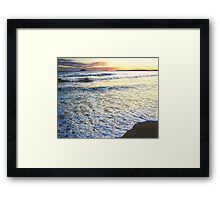 Foamy Tide At Garryvoe Beach Framed Print