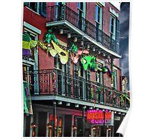 Bourbon Street Facade Poster