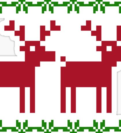 Ugly Christmas Sweater // Reindeer Sticker
