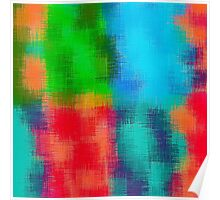 red green blue and orange painting  Poster