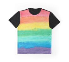 Colorful Watercolors Color Rainbow Craft Paper Texture Graphic T-Shirt
