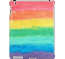 Colorful Watercolors Color Rainbow Craft Paper Texture iPad Case/Skin