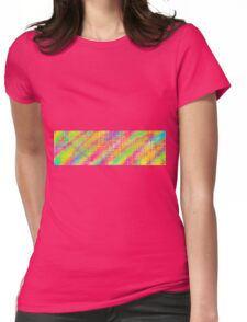 pink green blue and yellow painting Womens Fitted T-Shirt