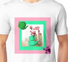 Feminine in Pink and Green Unisex T-Shirt