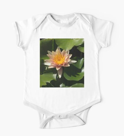 Exotic Colors - A Soft Coral Waterlily One Piece - Short Sleeve