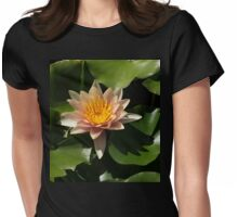 Exotic Colors - A Soft Coral Waterlily Womens Fitted T-Shirt