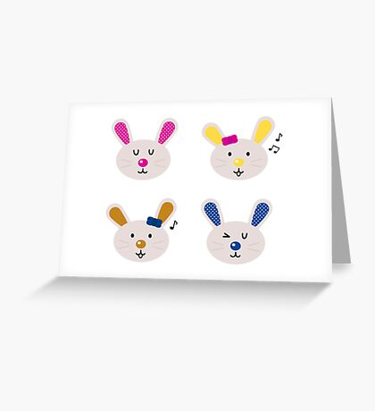 Enjoy singing bunnies. New kids design Greeting Card