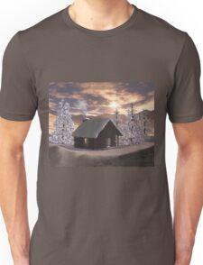 Winter Cabin  Unisex T-Shirt
