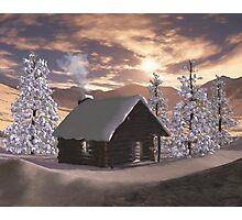 Winter Cabin  Photographic Print