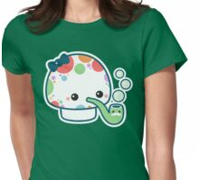 Cute Mushroom with Pipe Womens Fitted T-Shirt